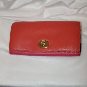 Coach Slim Envelope Wallet Purse Bicolor